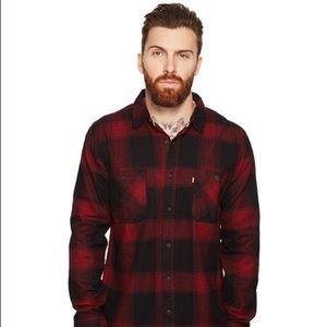 Levi's Men's Sized Red & Navy Plaid Shirt